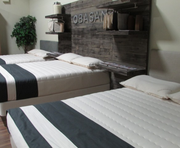 Obasan on display at Soma Organic Mattresses Toronto Showroom